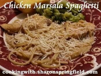 Chicken Marsala Spaghetti