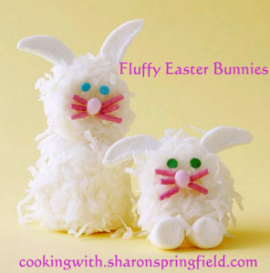 Fluffy Marshmallow Easter Bunnies