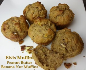 Elvis Muffins - Peanut Butter Banana Nut Muffins