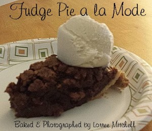 Fudge Pie a la mode
