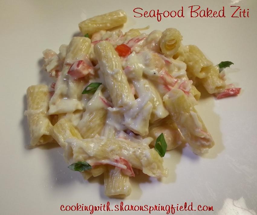 Seafood Baked Ziti