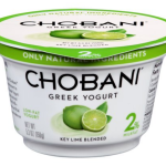 Chobani Greek Yogurt Lime Flavored