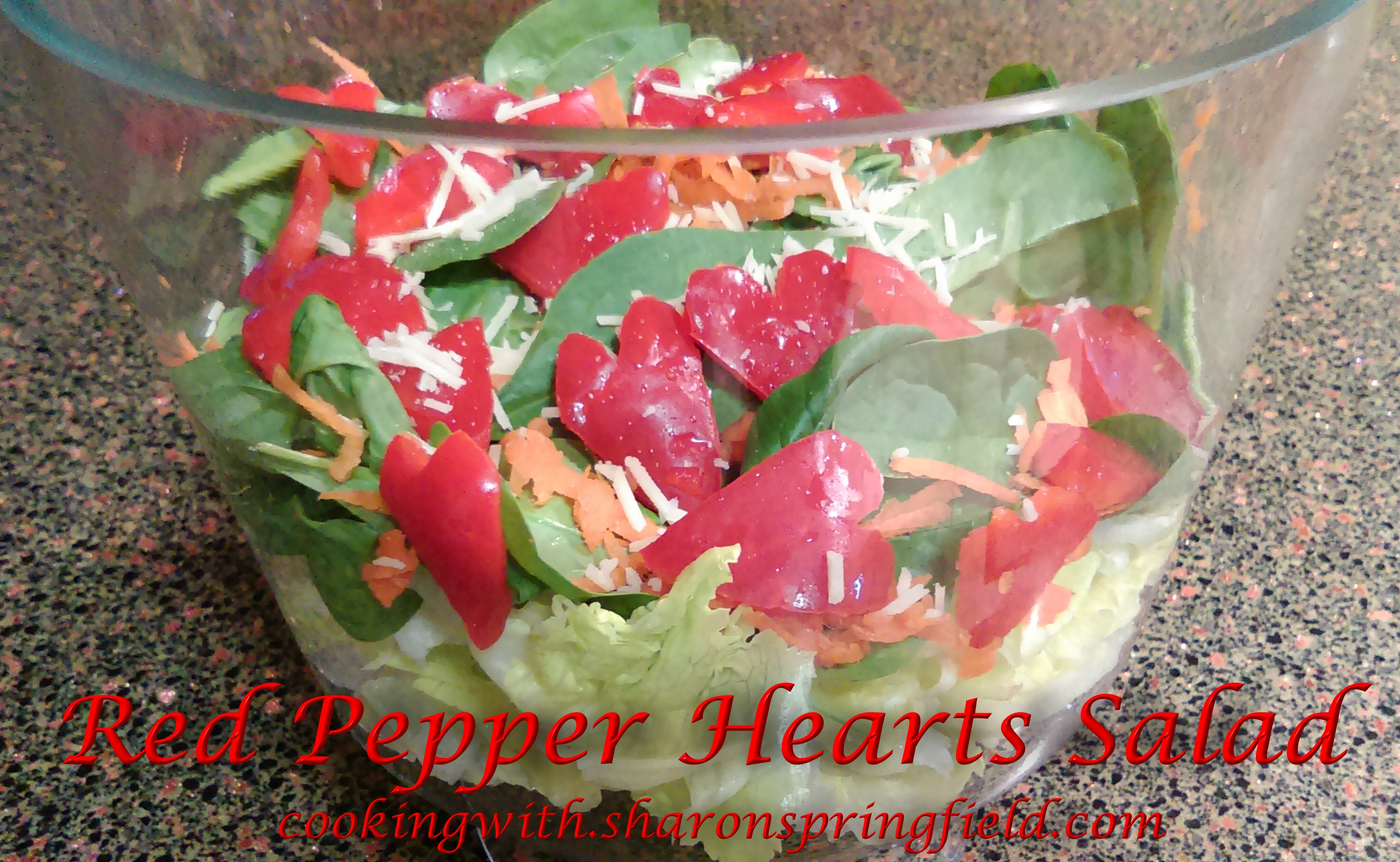 Red Pepper Hearts Salad for Valentine's Day